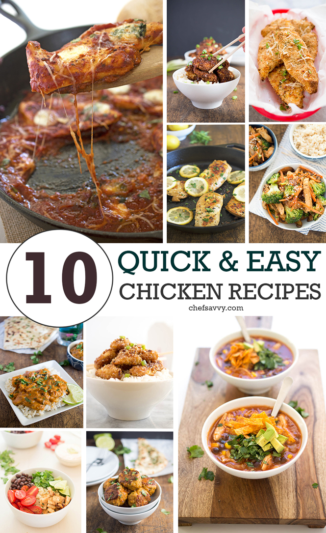 Top 10 Quick Easy Chicken Recipes