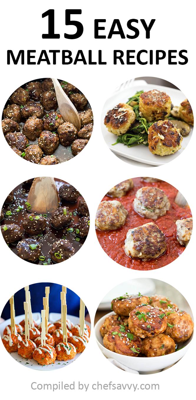 15 Super Easy Meatball Recipes