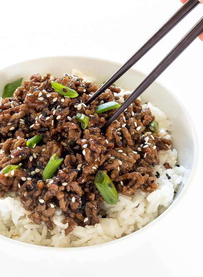 Korean Beef Bowl Recipe | chefsavvy.com