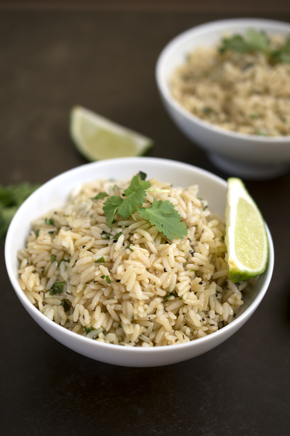 Cilantro Lime Brown Rice by chefsavvy.com