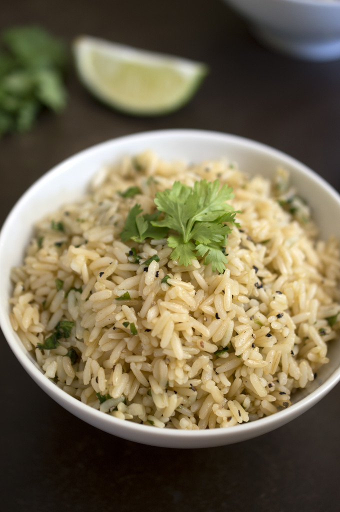 Healthy Cilantro and Lime Brown Rice