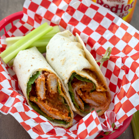 Baked Buffalo Chicken Wraps