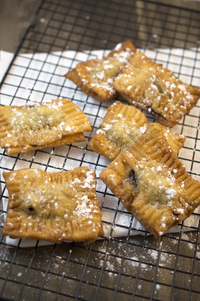 Deep Fried Blueberry Pie