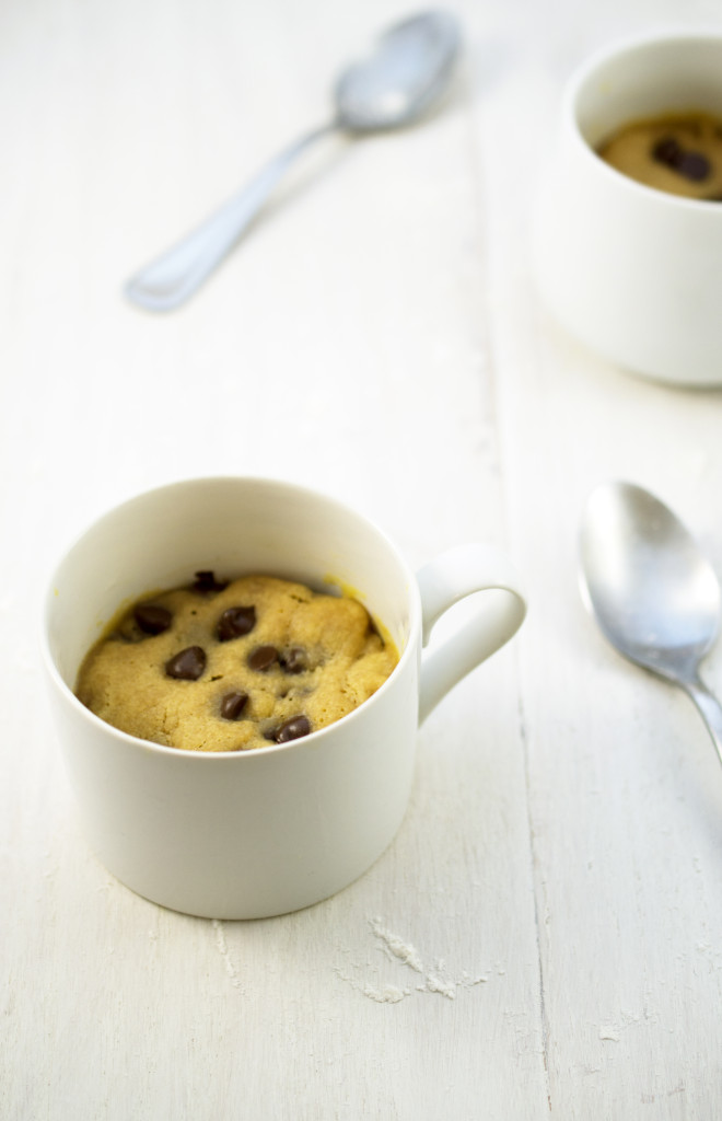 present to you my Peanut Butter and Chocolate Chip Cookie in a mug ...