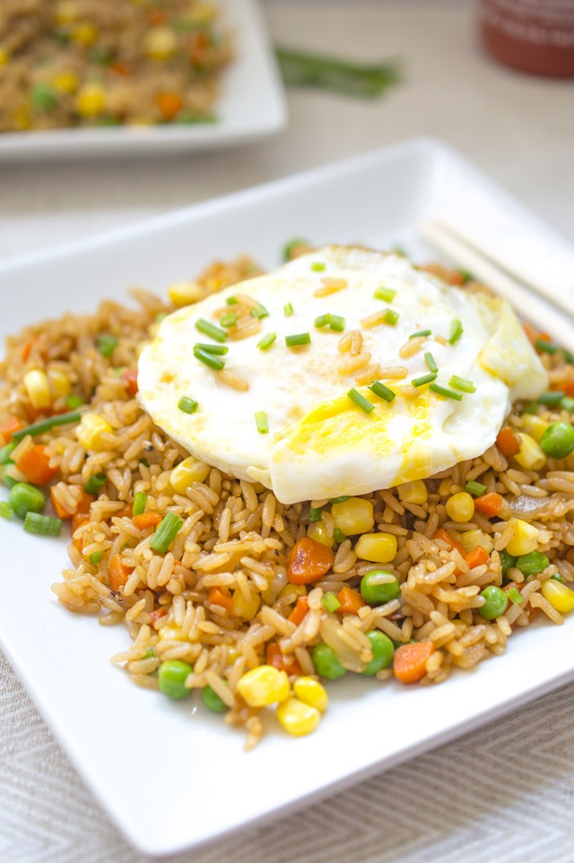 Chinese Vegetable Fried Rice | chefsavvy.com