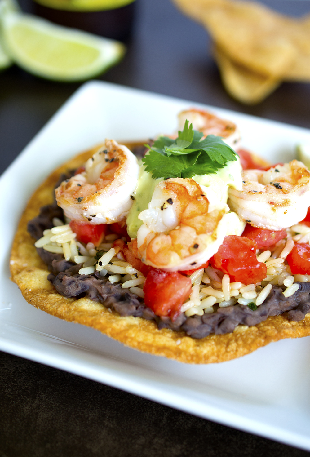 Shrimp Tostadas With Avocado Salsa Recipes — Dishmaps