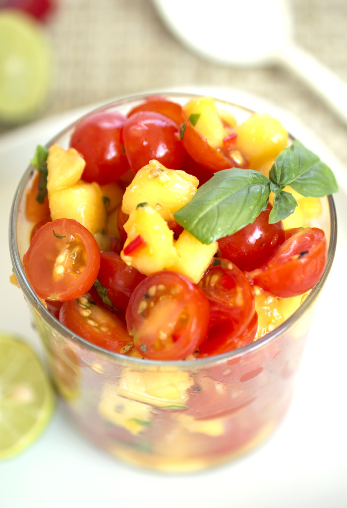 cherry tomato peach salsa