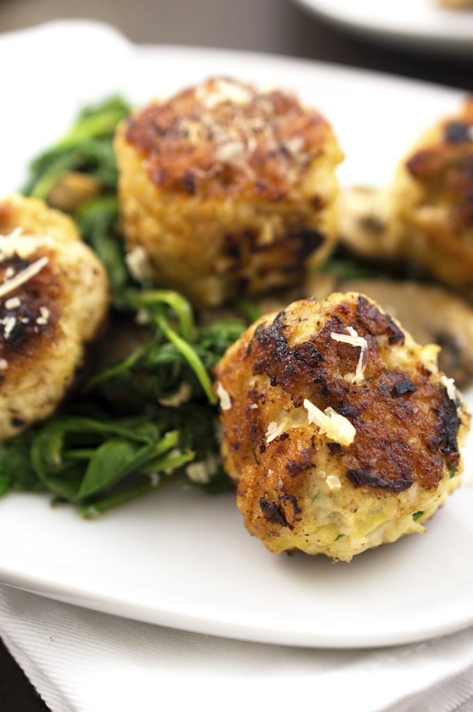 turkey meatballs with mushrooms