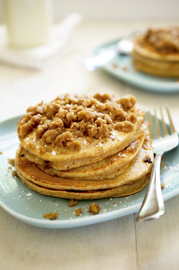 Streusel Pancakes