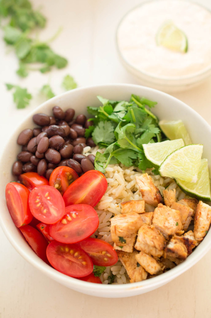 chipolte chicken rice bowl