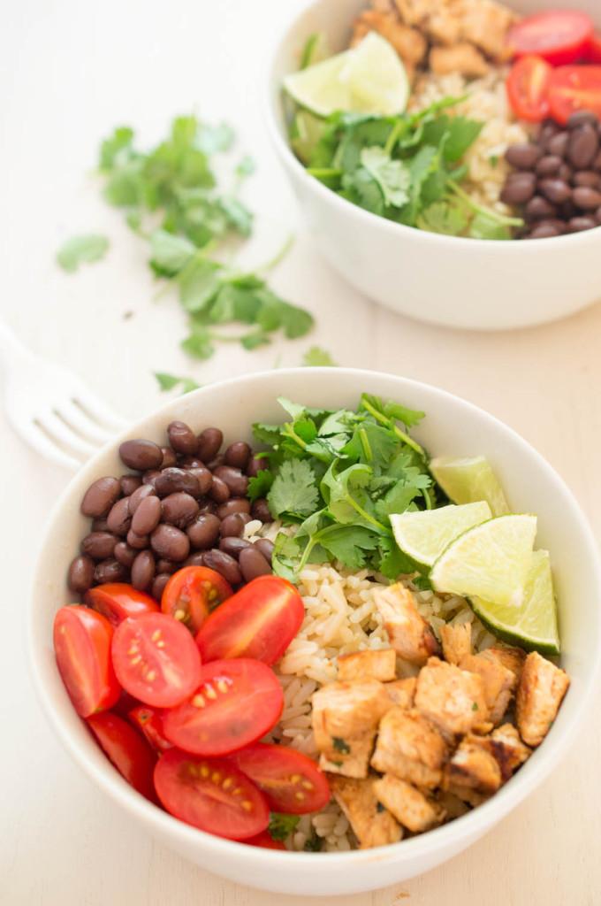 Healthy Chicken Burrito Bowl