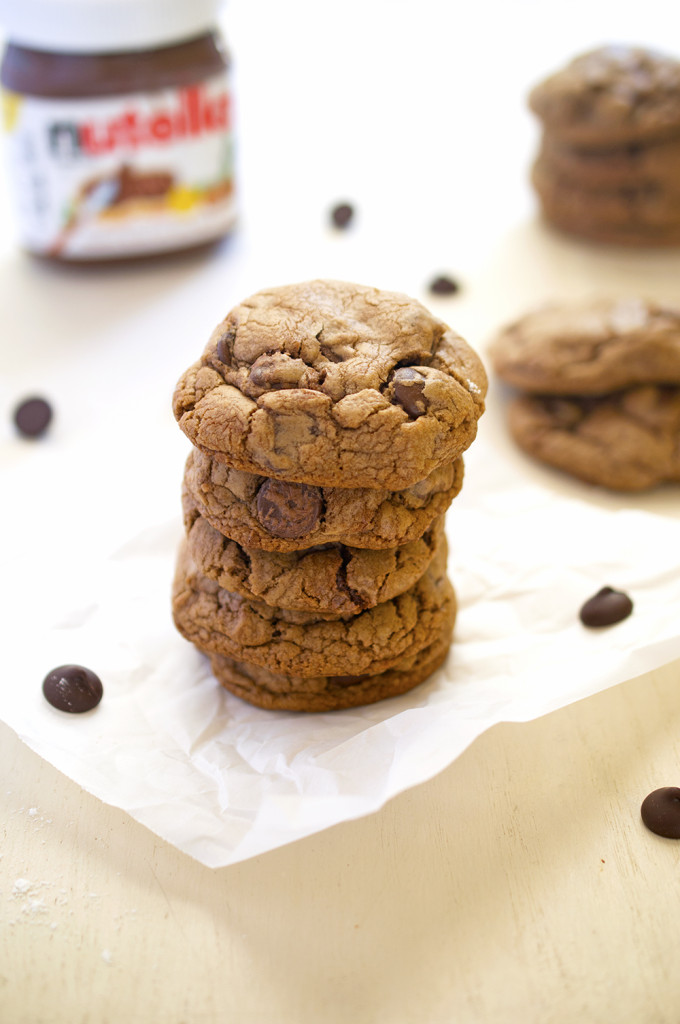 soft baked nutella cookies recipe