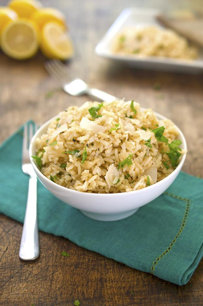 Lemon Parmesan Brown Rice