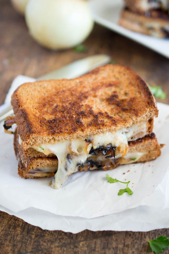 Quick French Onion Grilled Cheese