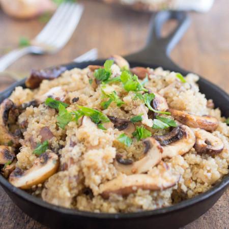 Mushroom Shallot Garlic Quinoa