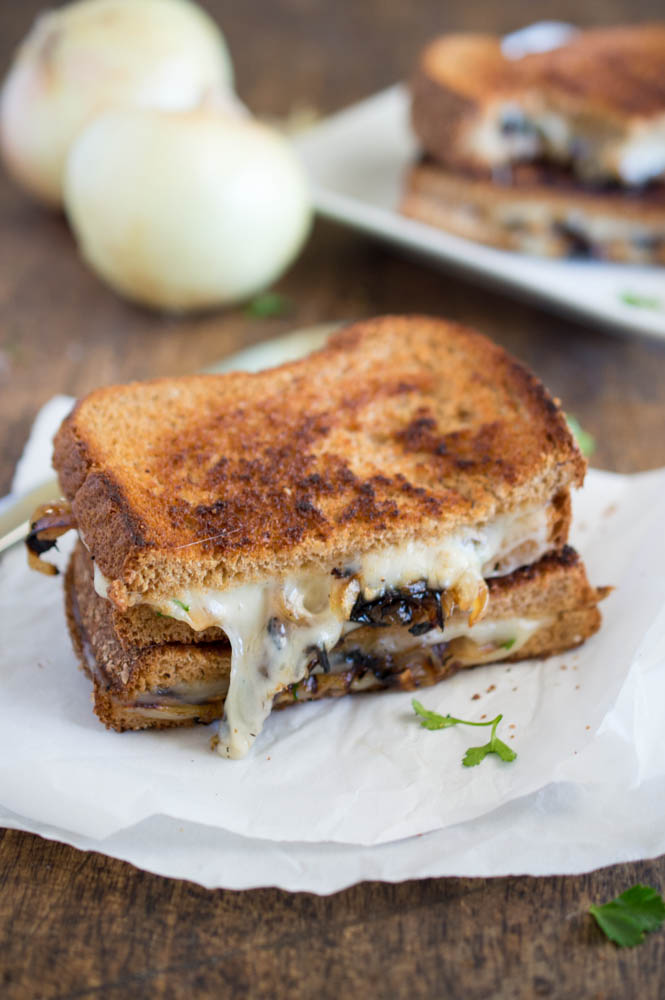 French Onion Grilled Cheese | chefsavvy.com #recipe #sandwich #onion #cheese