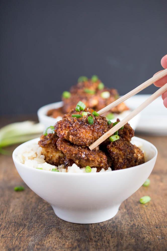 Baked Crispy Asian Chicken Bites Recipe
