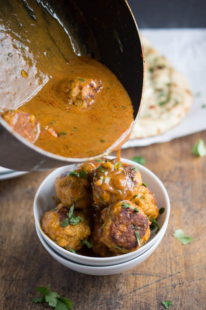 Thai Curry Chicken Meatballs
