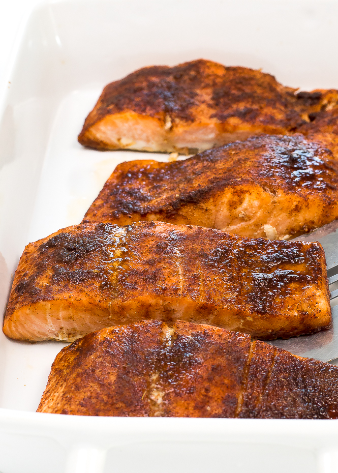 30 Minute Brown Sugar Chipotle Salmon | chefsavvy.com