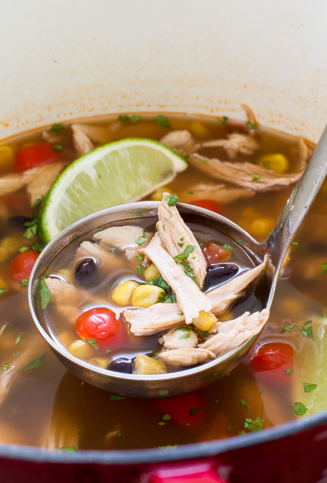 30 Minute Tortilla Turkey Soup