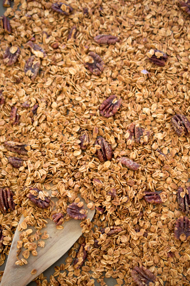 Pecan Granola | chefsavvy.com #recipe #breakfast #oats #pecans #breakfast #nuts