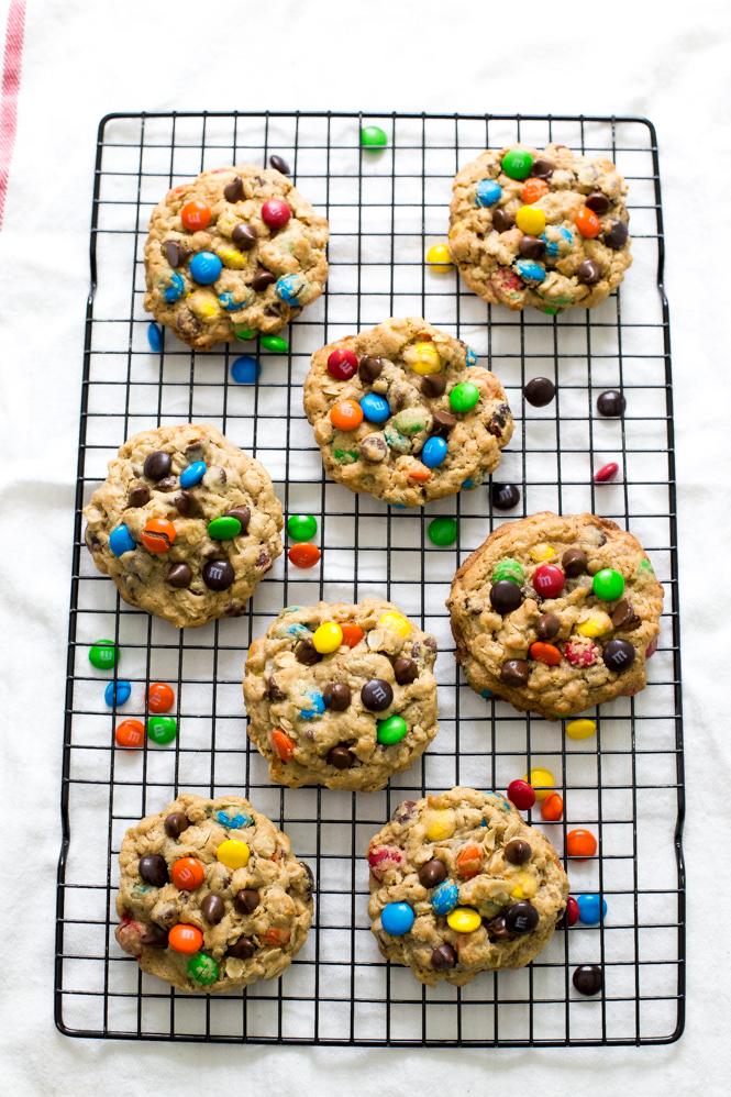 Peanut Butter M & M Cookies | chefsavvy.com
