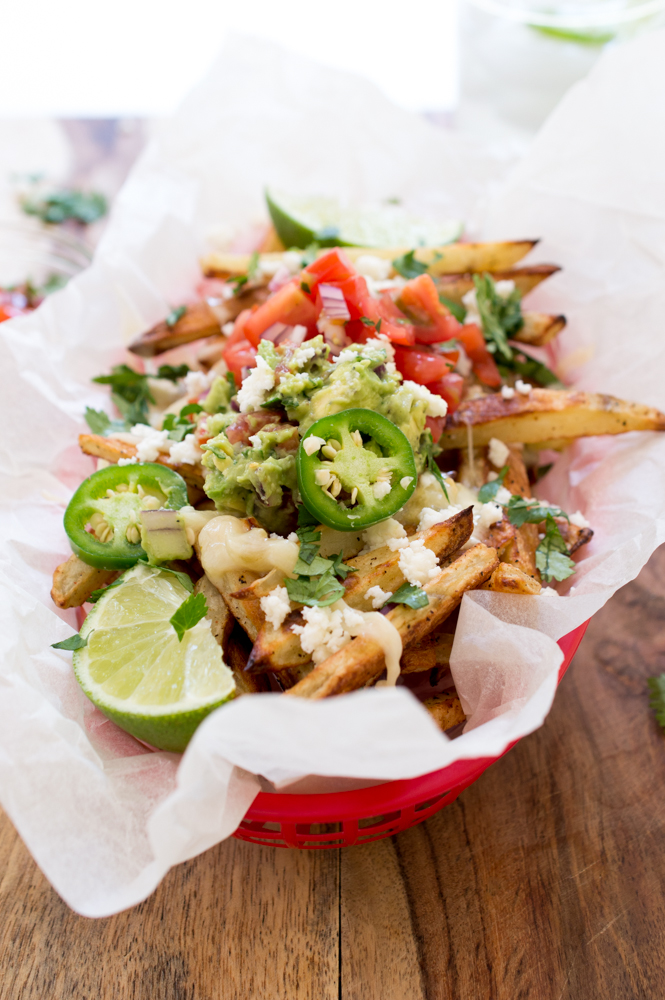Loaded Mexican Fries | chefsavvy.com #recipe #fries #mexican #side