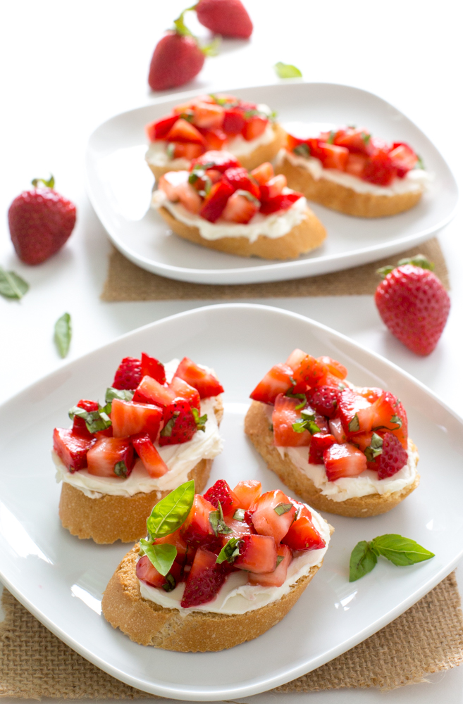 Amazing Strawberry Basil Bruschetta