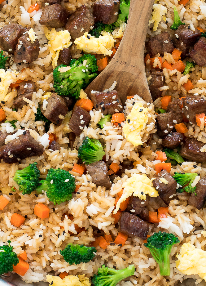 Easy beef fried rice chef savvy the trick to the best fried rice is using cold day old rice if you are like me and dont always plan ahead make sure to cook your rice first and allow ccuart Image collections