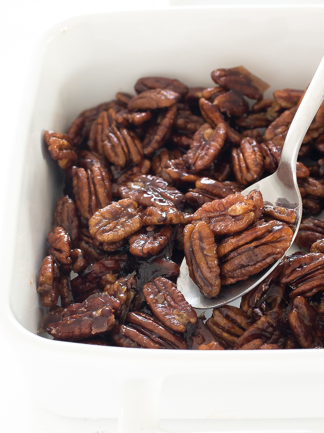 Candied Maple Pecans | chefsavvy.com