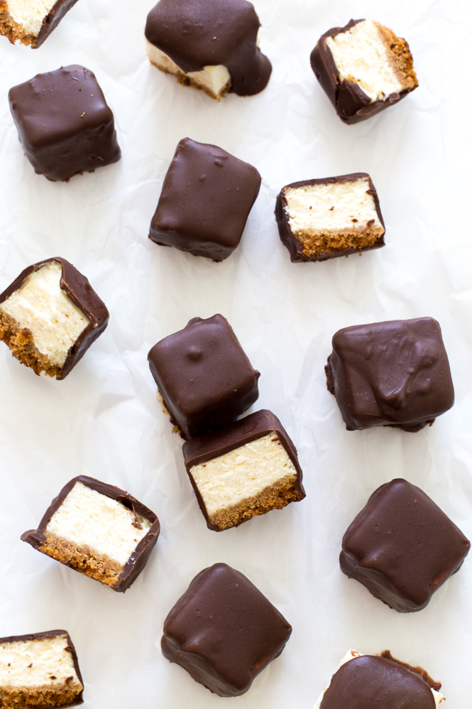 Chocolate Covered Cheesecake Bites | chefsavvy.com