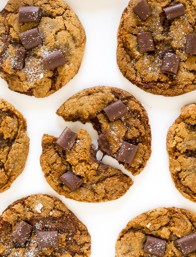 Chewy Chocolate Chunk Molasses Cookies