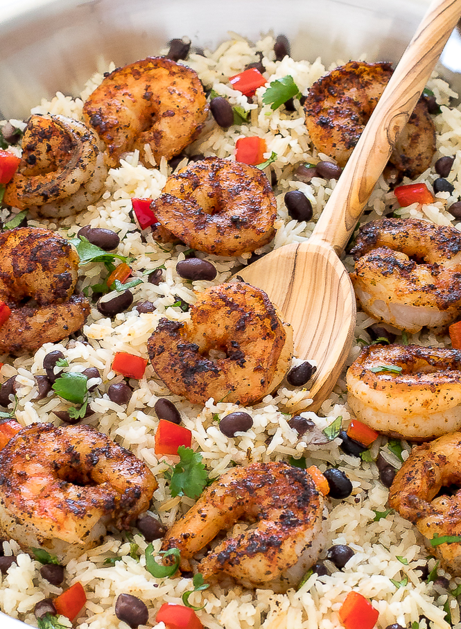 Cilantro Lime Blackened Shrimp and Rice | chefsavvy.com
