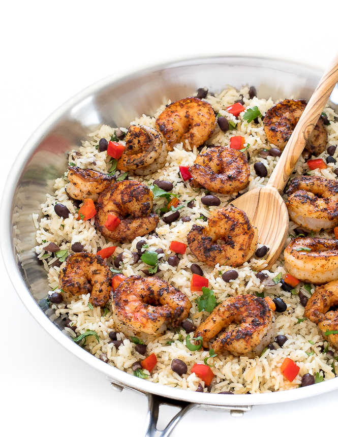 Cilantro Lime Shrimp and Rice | chefsavvy.com