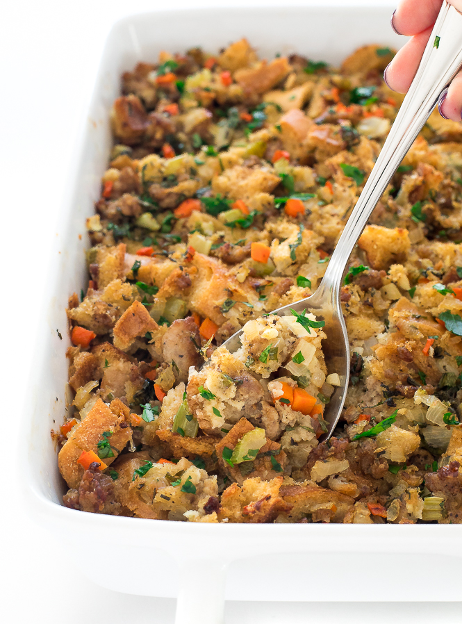 Classic Sausage Stuffing | chefsavvy.com