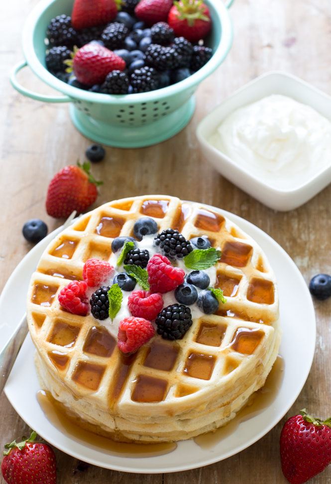 Crispy Greek Yogurt Waffles