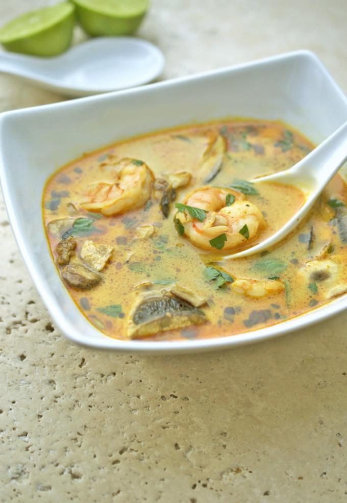 Thai Coconut Soup | chefsavvy.com #recipe #soup #thai #shrimp