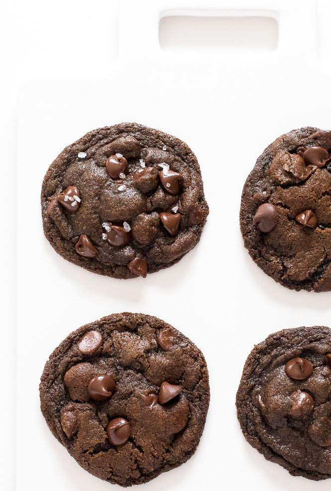 Double Chocolate Coconut Oil Cookies