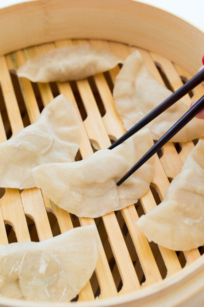 Asian Chicken Dumplings (Two Ways) | chefsavvy.com #recipe #dumplings #asian
