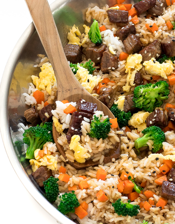 Beef Fried Rice Recipe | chefsavvy.com