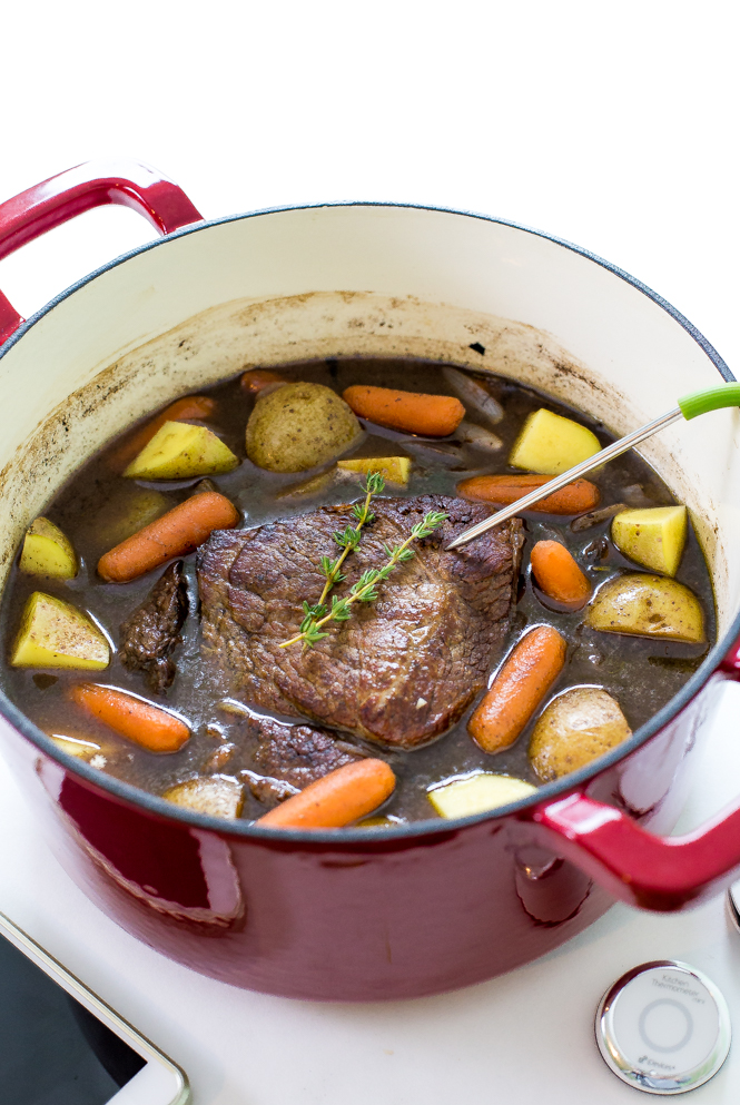 Super Easy Beef Pot Roast cooked low and slow for 3 hours. Super ...