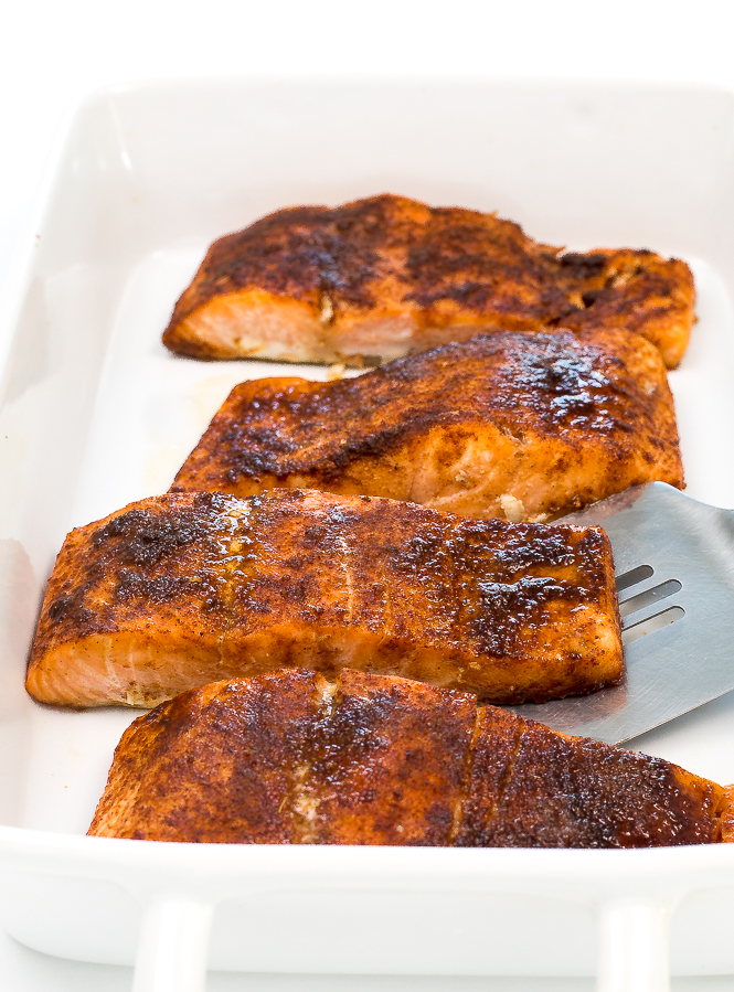 Brown Sugar Chipotle Salmon | chefsavvy.com