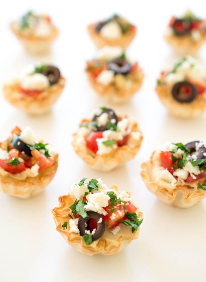 Quick and easy greek hummus phyllo bites chefsavvy com recipe