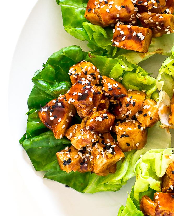 Easy Chicken Lettuce Wraps | chefsavvy.com