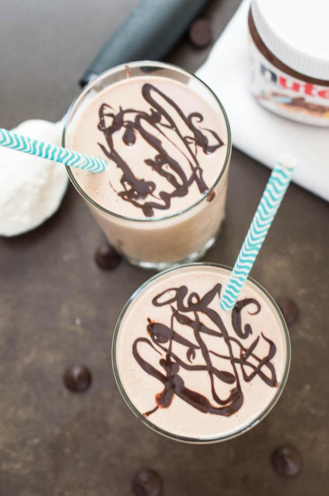 Easy Peanut Butter and Nutella Milkshake | chefsavvy.com