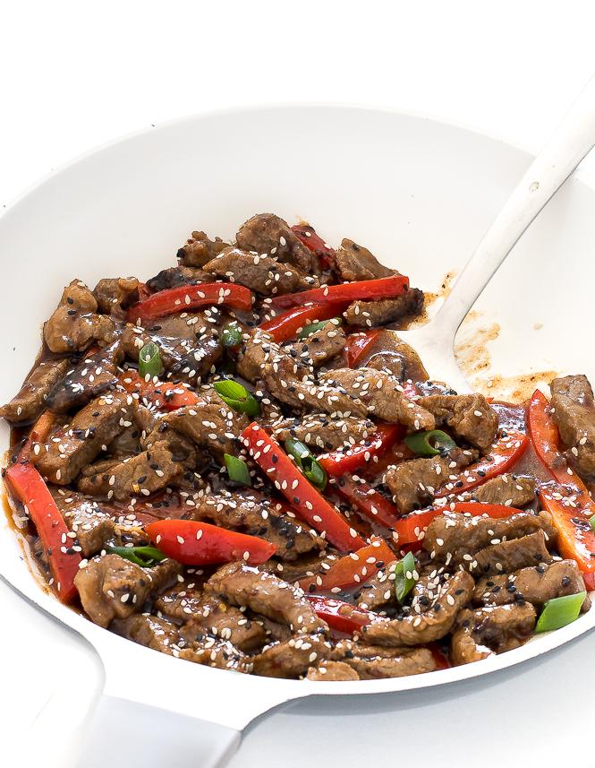 Spicy Szechuan Beef - Chef Savvy Szechuan Beef