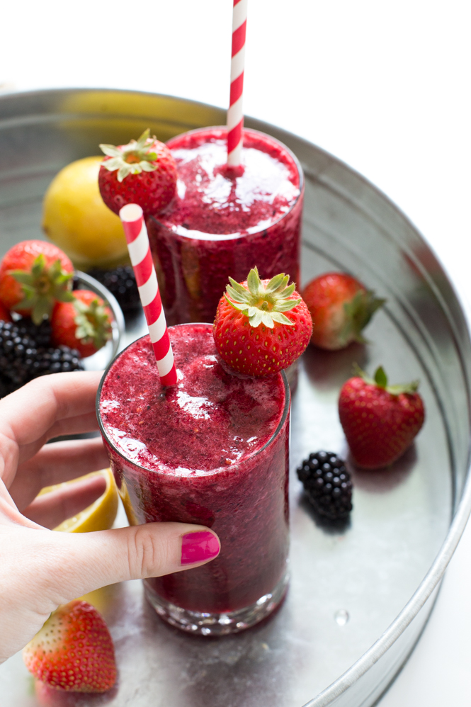 Frozen Mixed Berry Lemonade