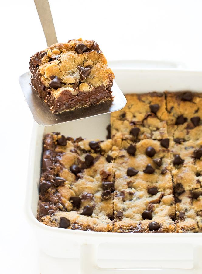 Fudge Stuffed Cookie Bars