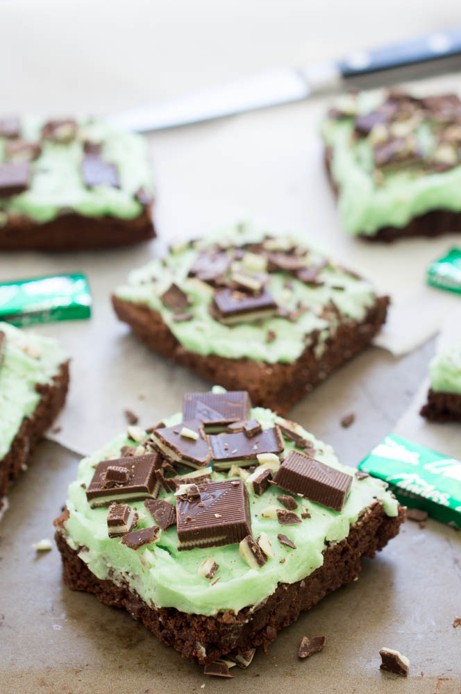 Chocolate Mint Andes Brownies | chefsavvy.com #recipe #dessert # ...
