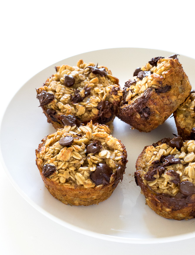 Chocolate Chip Oatmeal Muffins   chefsavvy.com